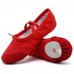 Балетки для хореографии красные