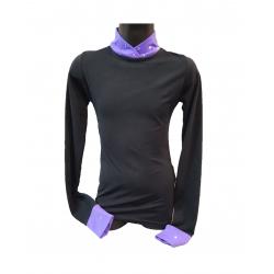 Водолазка Karisma 008 SW черная-фиолетовая